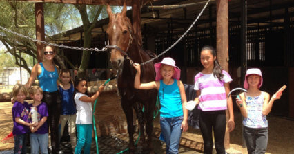 Horseback Riding Lessons in North Scottsdale Youth Camp Desert Palms